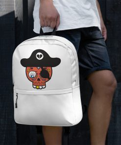 unique backpack with a whimsical pirate design