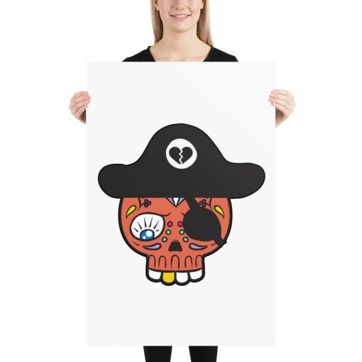 whimsical pirate poster for wall decor