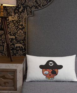 whimsical pirate design pillow